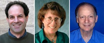 De izquierda a derecha, David Julius, Linda Watkins y Baruch Minke