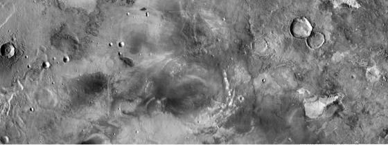 Detalle de la nueva cartografía fotográfica del planeta rojo