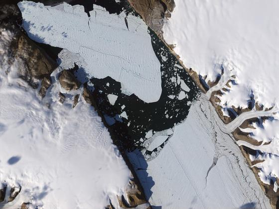 Imagen de la isla de hielo tomada el 16 de agosto