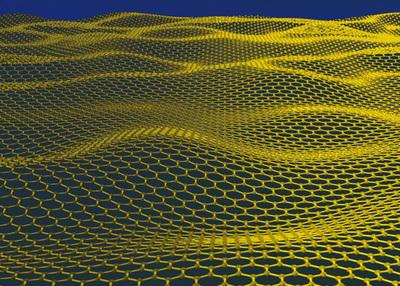 Una red de grafeno casi perfecta, de un átomo de grosor formada por átomos de carbono en una configuración hexagonal