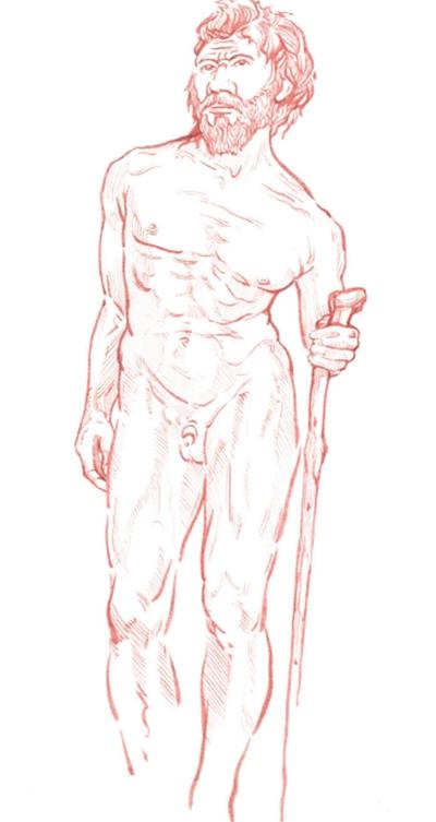 El individuo anciano de la Sima de los Huesos sufría de varias patologías que habrían tenido consecuencias posturales y eran dolorosas. Su espalda estaba encorvada y torcida, y probablemente se ayudaba de un báculo para mantenerse erguido