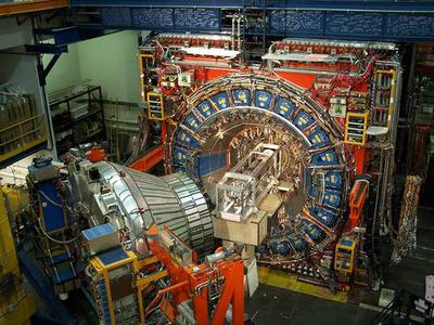 Uno de los detectores del acelerador Tevatron, en erl laboratorio Fermilab (Chicago).