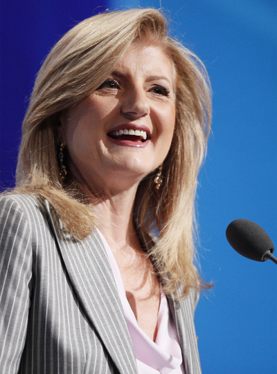 Arianna Huffington, creadora de la web 'The Huffington Post', adquirida por el conglomerado AOL.