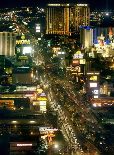 El South End de Las Vegas Strip, el corazón de los casinos y los hoteles de la  capital del juego.