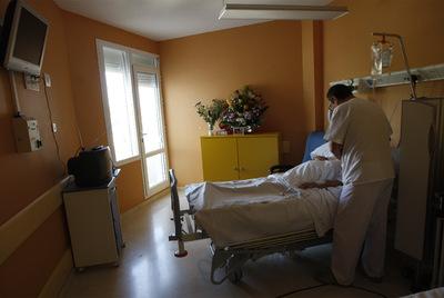 Habitación en la planta de cuidados paliativos del hospital Virgen Macarena de Sevilla.