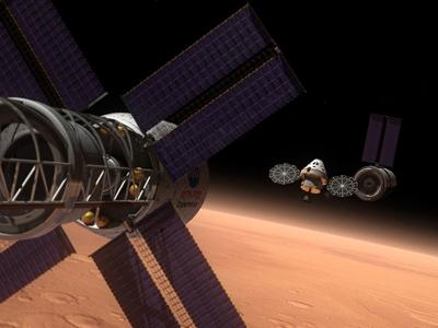 Ilustración del futuro vehículo tripulado multipropósito (MPCV), de la NASA, en el que los astronautas podrán realizar misiones de tres semanas de duración.