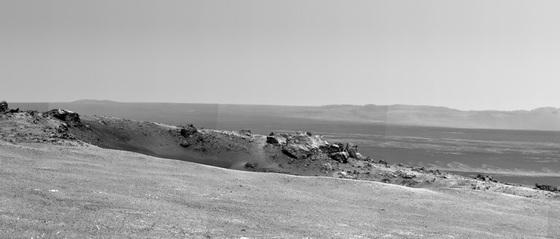 Lugar del borde del cráter Endeavour, en Marte,  al que ha llegado el robot  Opportunity y bautizado Spirit en recuerdo del vehículo gemelo, que ya ha dejado de funcionar.