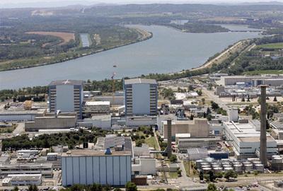 Vista aérea del complejo nuclear de Marcoule.