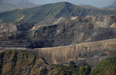 Vista de la mina de El Feixolín, en León.