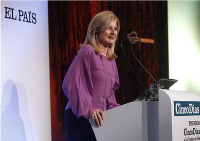 Arianna Huffington, durante la ceremonia de entrega de los IV Premios Cinco Días a la Innovación Empresarial, celebrada en Madrid el pasado octubre