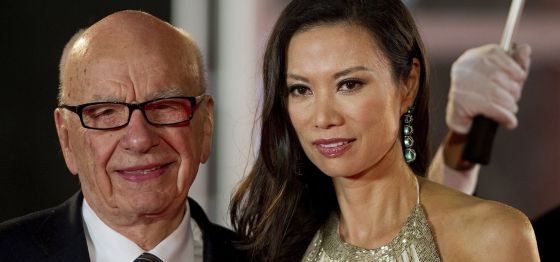 Rupert Murdoch y su esposa, Wendi Deng.
