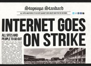 Una de las imágenes de la protesta, que anima a las webs a sumarse al apagón.