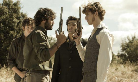 Escena de la serie de Telecinco 'Tierra de lobos'.