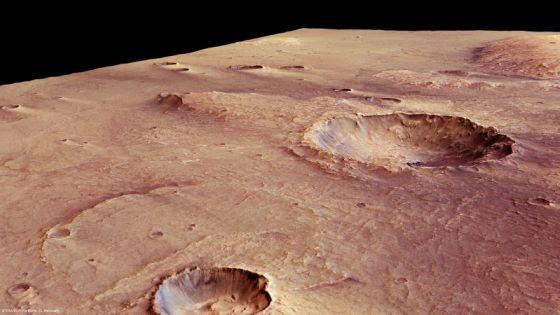 Imagen de la región volcánica Syrtis Mayor en el planeta rojo.