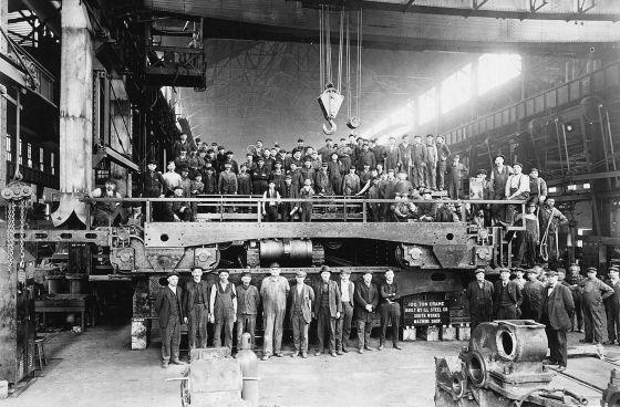 Imagen de una fábrica de Chicago a principios del siglo XX.
