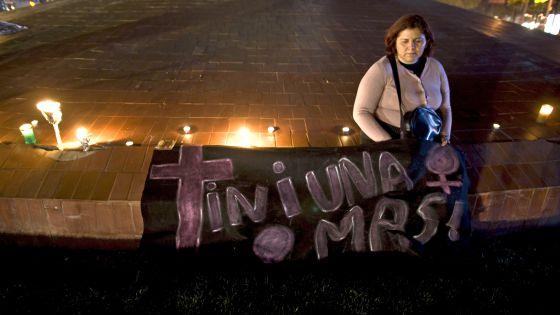 Protesta contra la violencia de género en Tijuana (México).