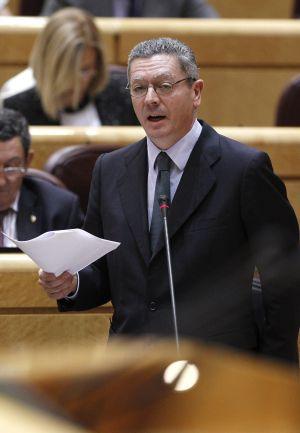 Gallardón, durante el pleno del Senado.