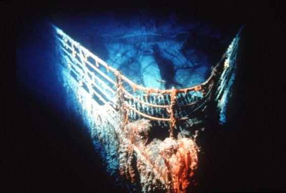 El ´Titanic´ en el fondo del Atlántico.