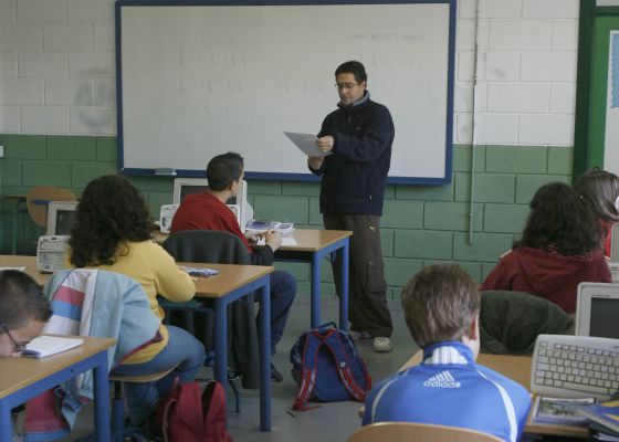 Clases de refuerzo en un instituto andaluz.  Javier Barbancho