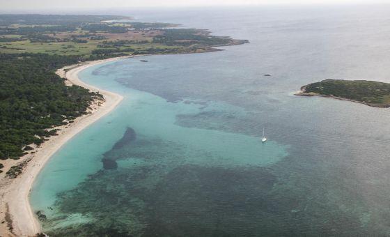 El litoral de Sa Vall y Sa Vallet y la finca sin urbanizar de los March al sur de Mallorca