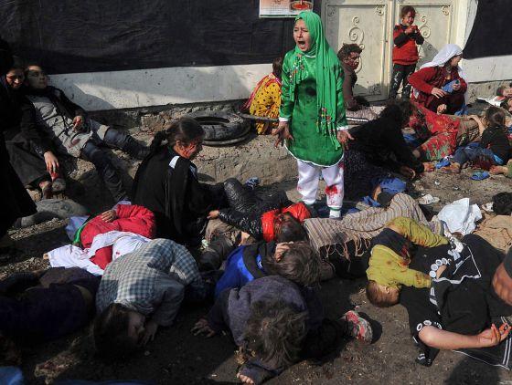 Imagen tomada por Massoud Hossaini, de la agencia France Presse, ganadora de un premio Pullitzer 2012.