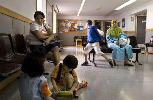 La sala de espera de un centro de atención primaria de Barcelona.