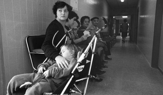 Centro de salud de Parla (Madrid) en 1986.