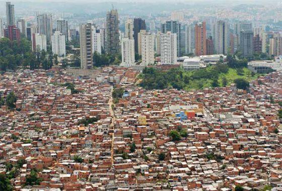 La favela Morumbi de São Paulo, en Brasil.