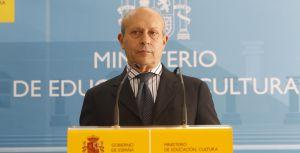 José Ignacio Wert, ministro de Educación, tras el plante de los rectores.