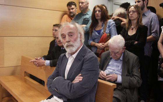 El cantautor Javier Krahe, durante el juicio.