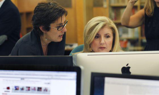 Montserrat Domínguez, directora de 'El Huffington Post', con Arianna Huffington.