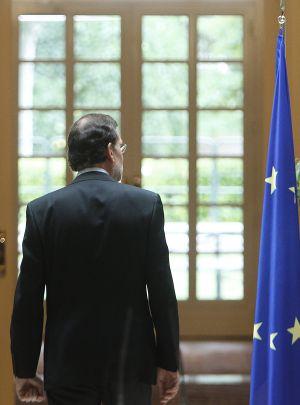 Rajoy, durante la rueda de prensa que ofreció el domingo en La Moncloa.