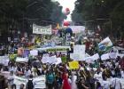 La protesta callejera rodea Río+20