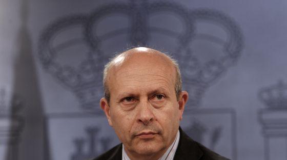 José Ignacio Wert, ministro de Educación y Cultura.