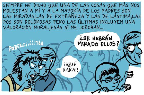 Página creada para EL PAÍS por Miguel Gallardo, autor del cómic 'María y yo' para contar la relación con su hija autista.