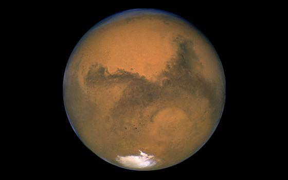 Imagen de Marte enviada por el telescopio espacial Hubble.