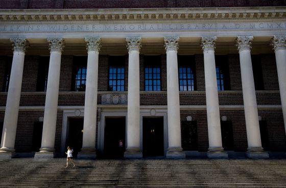 Biblioteca Harry Elkins Widener Memorial de Harvard.