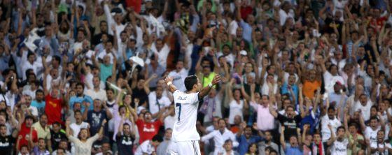 Cristiano Ronaldo celebra un gol cuando todavía no era infeliz.