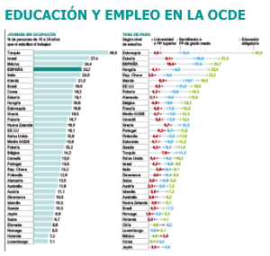 Fuente: Panorama de la Educación 2012, OCDE.