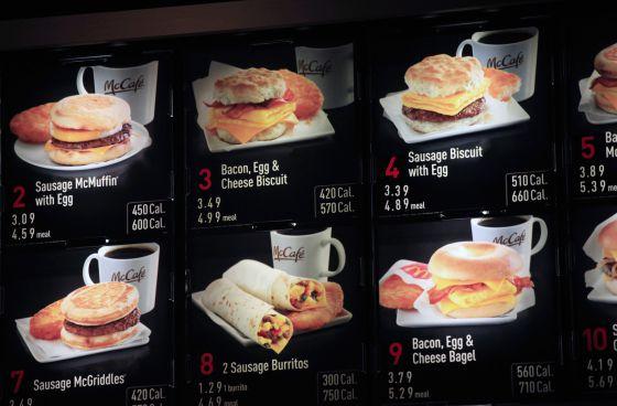 McDonald's y calorías.