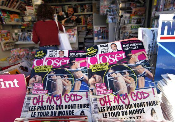 Portadas de la revista 'Closer' con el toples de Middleton.