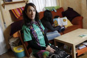 La madrileña María Amate secundó la huelga y no llevó a sus hijas al colegio.