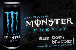 """""""El tamaño sí importa"""", dice la publicidad de Monster Energy"""