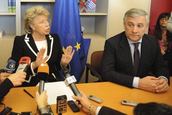 Viviane Reding, tras el fracaso de su plan para imponer cuotas de mujeres en las empresas europeas.