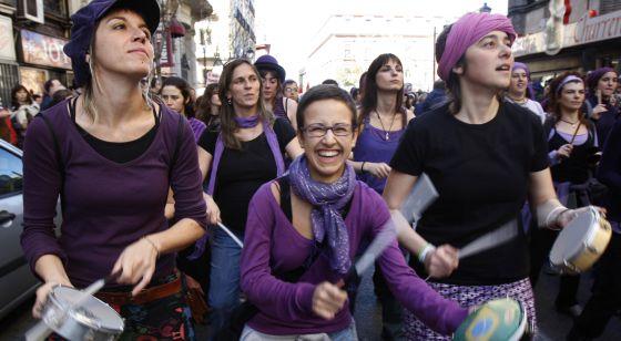 Manifestación del Día de la Mujer en Madrid en 2009.
