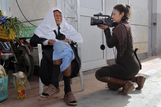 La periodista tunecina Khedir Mabrouka.