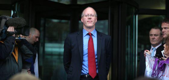 George Entwistle, director general de la BBC, el mes pasado, tras declarar ante una comisión del Parlamento.