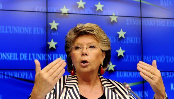Viviane Reding, comisaria europea de Justicia