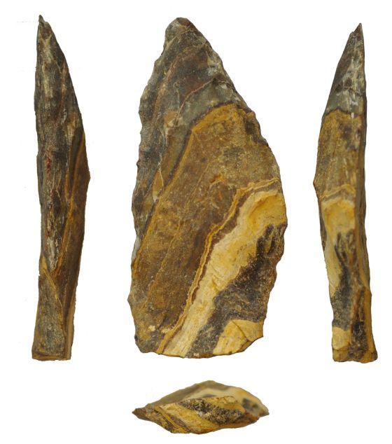 Puntas de lanza de procedentes del yacimiento de Kathu Pan 1 (Sudáfrica) y datadas en 500.000 años.