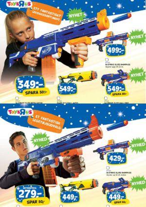 Abajo, imagen del catálogo danés de Toys'r'us. Arriba, la versión sueca.